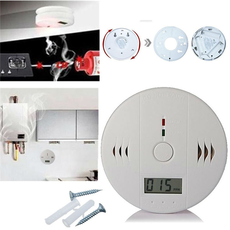 YiiSPO 85dB Warning High Sensitive LCD Photoelectric Independent CO Gas Sensor Carbon Monoxide Poisoning Alarm Detector