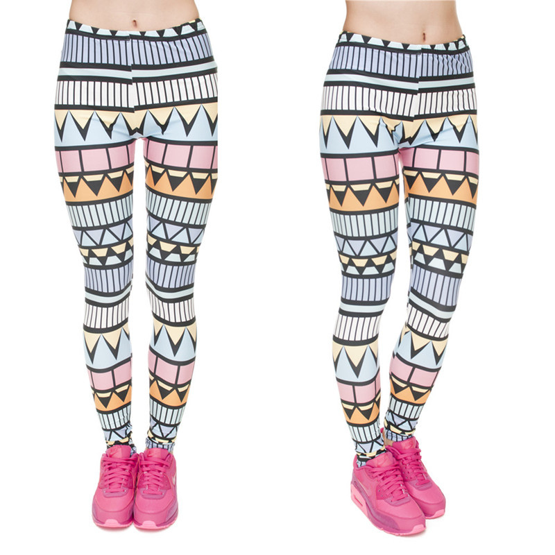 Zohra Brand New Fashion Aztec Printing legins Punk Women's Legging Stretchy Trousers Casual Slim fit Pants Leggings 9