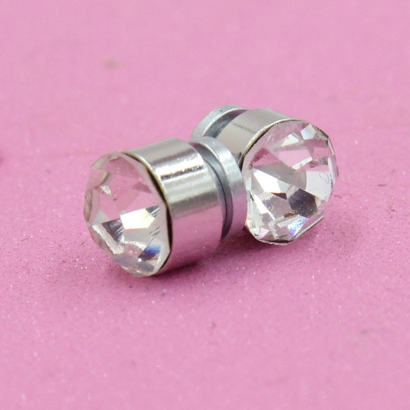 f6ff5c146dc3d US $1.39 |Aliexpress.com : Buy 2sets white round crystal Titanium Magnetic  magnet no piercing Ear Clip Magnet Stud Earrings Magic body jewelry for ...
