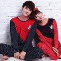 Spring Autumn Casual Men Women Pajamas Sets Lover Cotton Sleepwear Couple Home Sleep Wear Clothes Suits Lounge