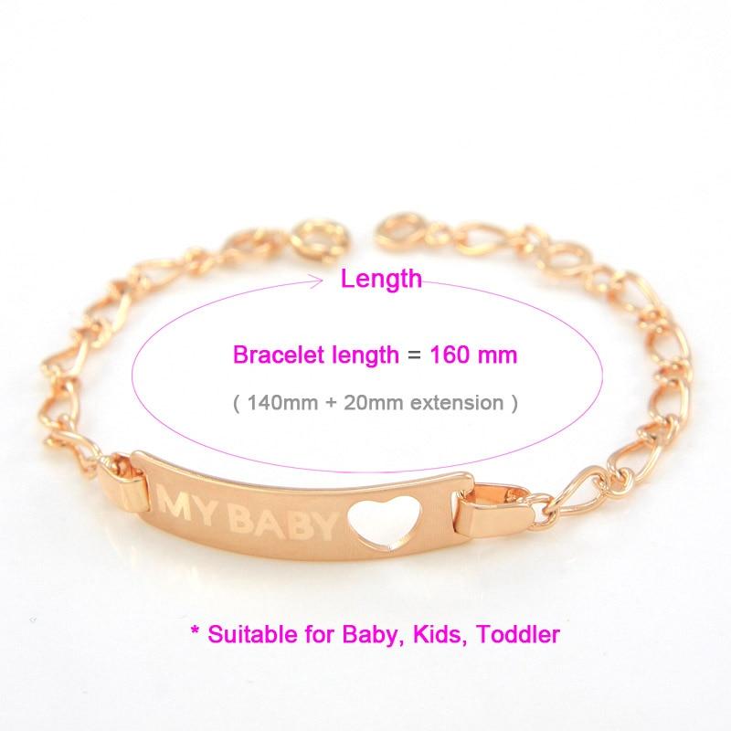 866c6c12e5e5 BR38 01a size baby bracelets gold kids jewelry toddler bebe pulseira ouro  bambio ninas bracciali armband