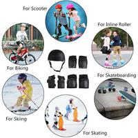 S/M/L 7pcs Kids Sports Protective Gear Set Helmet, Knee & Elbow Pads, Wrist Guards for Bicycle Cycling Roller Skating