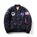 Nasa bombardero MA1 Chaqueta hombres Mujeres Piloto hombre Abrigo de invierno hombre Jaqueta Béisbol de Vuelo de la Fuerza Aérea del ejército verde Kanye West chaqueta