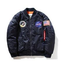 Nasa bomber Jacket men Women Pilot MA1 man Coat winter hombre Jaqueta Flight Air Force Baseball army green Kanye West jacket