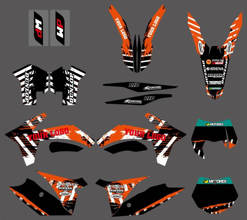 NEW TEAM DECALS STICKERS GRAPHICS FIT FOR KTM 125 150 200 250 350 450 500 SX SXF XC XCF XCW XCFW EXC 2011-2013 0584 new team graphics with matching backgrounds for ktm 125 200 250 300 450 500 exc xc w xcf w six days 2014 2015 2016