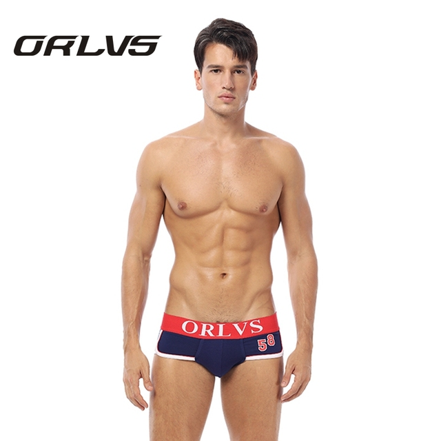 Orlvs бренд Для мужчин мужские трусы шорты хлопок Для мужчин нижнее белье сексуальное Для мужчин трусы популярные мужские трусики 6 цветов под Штаны чехол Штаны OR39