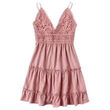 New 2018 Fashion Women Dress Sleeveless  Sexy Cotton Linen Beach Vestidos