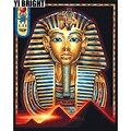 YI яркая DIY 3D Алмазная вышивка  вышивка крестиком  картина «Фараон»  полная квадратная и круглая алмазная живопись  домашний декор  GT
