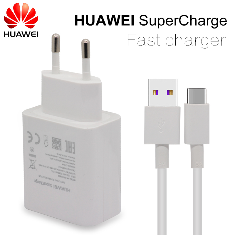 <font><b>HUAWEI</b></font> Quick Travel Wall Fast Charger For Mate 9 10 Pro P10 Plus <font><b>Supercharge</b></font> <font><b>Adapter</b></font> 4.5V5A/5V4.5A Type-C 3.0 USB Cable 1M image