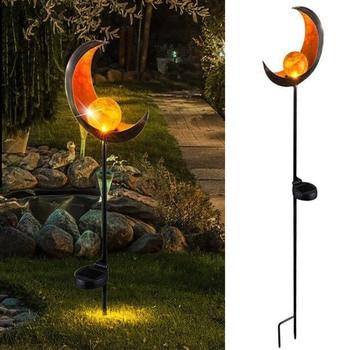 LED Solar Flame Light Metal LED Garden Light Flame Effect Lamp Waterproof Outdoor Lights Landscape Lights Solar Decorative Light 17