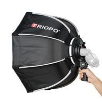 TRIOPO 65cm Foldable Softbox Octagon Soft box w/Handle for Godox Yongnuo Speedlite Flash Light photography studio accessories