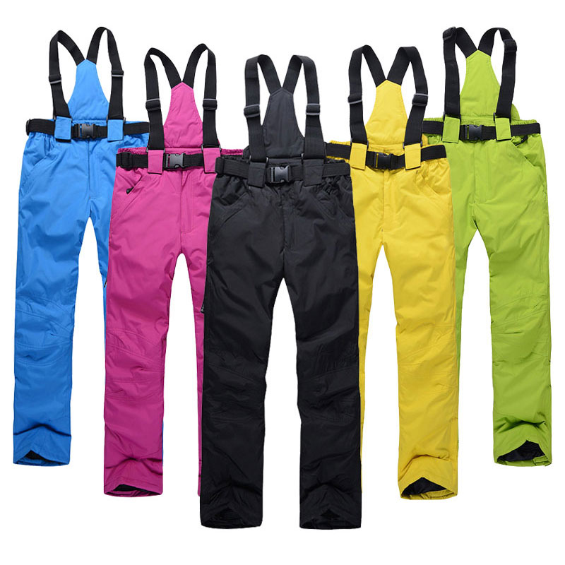 Snow-Trousers Couple Ski Waterproof Outdoor Winter Men Women High-Quality Brand Warm title=