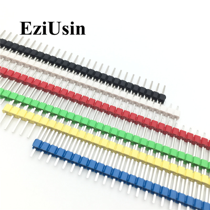 30Pcs 40 Pin Breakable Pin Header 2.54mm Single Row Male Header Connector Kit PCB Pin Strip For Arduino