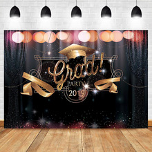 Get more info on the NeoBack 2019 Ggraduation Party Photography Backdrops Neon Gold Black Glitter Bokeh Shiny Photo Background Photophone