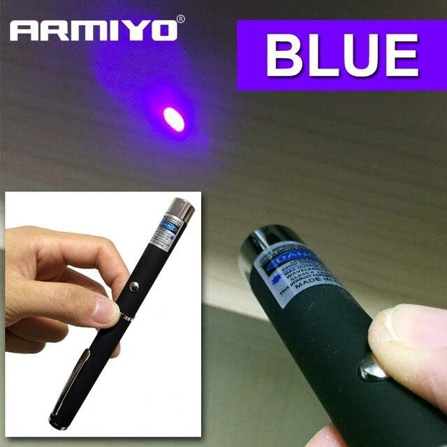 Armiyo 5 mW 405nm כחול-נקודת עט עוצמה מצביע מגיש מרחוק ציד הוראת הצבעה Sight