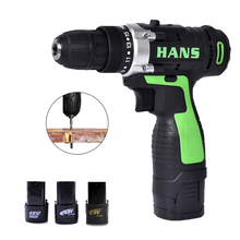 2 Battery Hand Drill Cordless Electric Impact Power Drills Screwdriver Rotary Tools For Woodworking 12V/16.8V/18V цена и фото