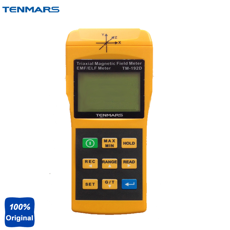 TM-192D USB Datalogger 3-Axis EMF Electromagnetic Test Magnetic Field Tester Gauss Meter Extremely Low Frequency 30 to 2000Hz цена