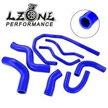 LZONE-синий силиконовый радиатор охлаждающей жидкости шланг комплект для VW Golf GTI FSI Mev MK5 2,0 T A5 PQ35 2003-2009 JR-LX1305
