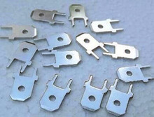 Free Shipping!!! 10pcs Feet welded plate inserts / male terminal / 6.3 plug spring / 6.3MM copper /Electronic Component
