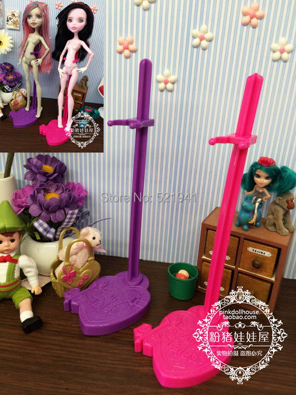 2016 Toys For Girls Gift 10pcs/lot Doll Stand Display Holder For Monster toys toys dolls/for Ever After toys,doll accessor ...