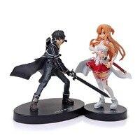 2 adet Set Anime Sword Art Online SAO Şekil I Asuna Yuuki Kirito 6