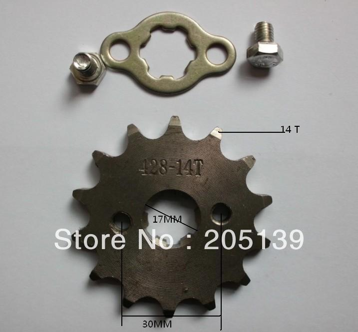 14t 17MM sprocket FOR 428 tandwiel CHAIN motorcycle reverse gearbox go kart karting quad MOTO pitbike dirt ATV parts bike in Sprockets from Automobiles Motorcycles