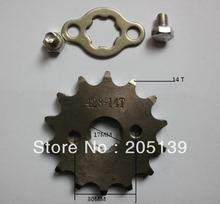 NEW 14 t tooth 17MM FRONT ENGINES sprocket FOR 428 CHAIN motorcycle MOTO PIT dirt ATV parts bike