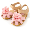 2016 new spring summer Korean soft bottom large flower child baby toddler shoes Rome Princess Girls Floral sandals