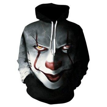 3D Printed Clown Poker Hoodie 1