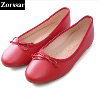 Zorssar New Women Real Leather Shoes Moccasins Mother Loafers Soft Leisure Flats Female Driving Casual