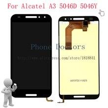 """5.0 """"pour Alcatel A3 5046 plein écran LCD + écran tactile numériseur assemblée pour Alcatel A3 5046D 5046Y LCD noir"""
