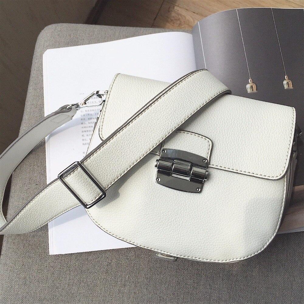 Crossbody Bag For Women Saddle Handbags Blue 2017 Leather Mini Summer Bag White New Brand Designer