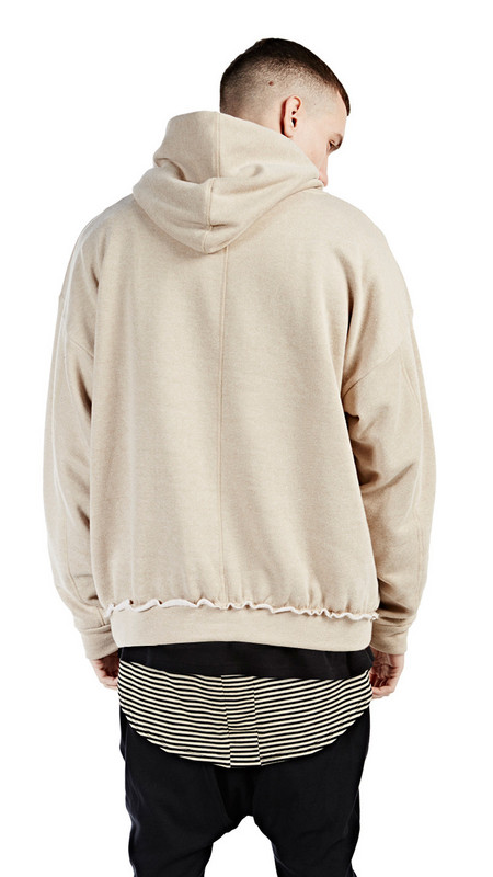 Beige Mens Hoodie - Hardon Clothes