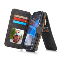 Luxury Leather Removable Card Slots Wallet Magnetic Flip Stand Back Case Cover for Samsung Galaxy S7/S7 Edge S8/S8 Plus Note 5/7