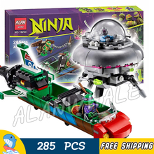 285pcs New Ninja T-Rawket Sky Strike Rocket 10263 DIY Model Building Blocks Children Toy Bricks Movie Games Compatible with Lego