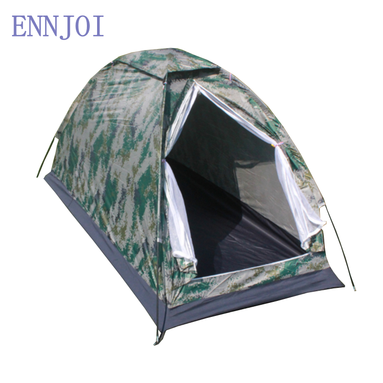 ENNJOI 1-2Person Water Resistance Outdoor Camping Tent Kit Portable Professional Fiberglass Pole Tent Camouflage With Carry Bag Палатка