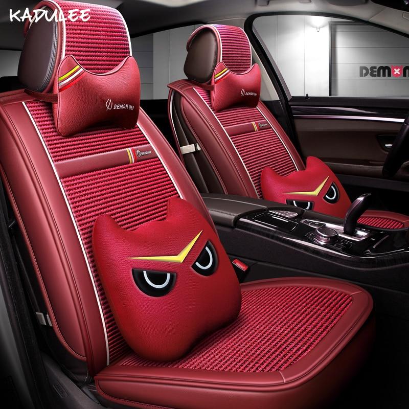 KADULEE Авто Чехлы для isuzu MU X D MAX (спереди и сзади) подушки сиденья автомобиля интерьера наклейки автомобильные аксессуары