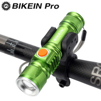 BIKEIN Pro Bicycle Light Bike Front Light Cycling Led Flashlight Bycicle Accessories USB Charge 16340 Battery