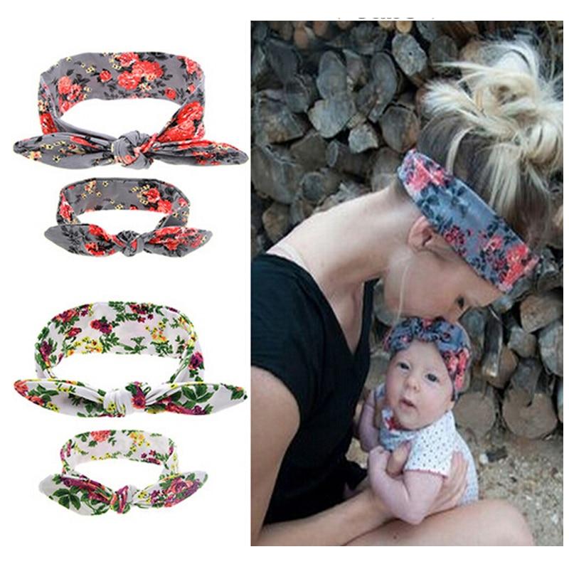 1 Set Headwear Für Frauen Neugeborenen Blumen Drucken Floral Schmetterling Bogen Haarband Turban Knoten Stirnband Kinder Haar Zubehör Kt043