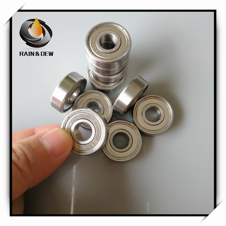 10Pcs 608 zz Skateboard Ball Bearing Stainless Steel Ball Bearing 608zz ABEC-9 8x22x7 mm roller skates Bearing 608(China)