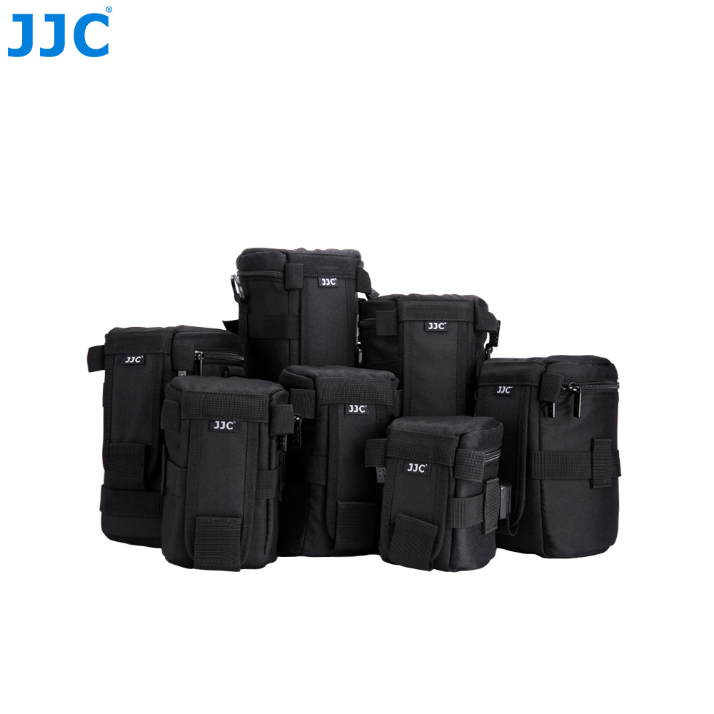 JJC Deluxe impermeable lente de la Cámara bolsa para Canon/Sony/Nikon/JBL Xtreme poliéster suave caso SLR DSLR caja Photography cinturón