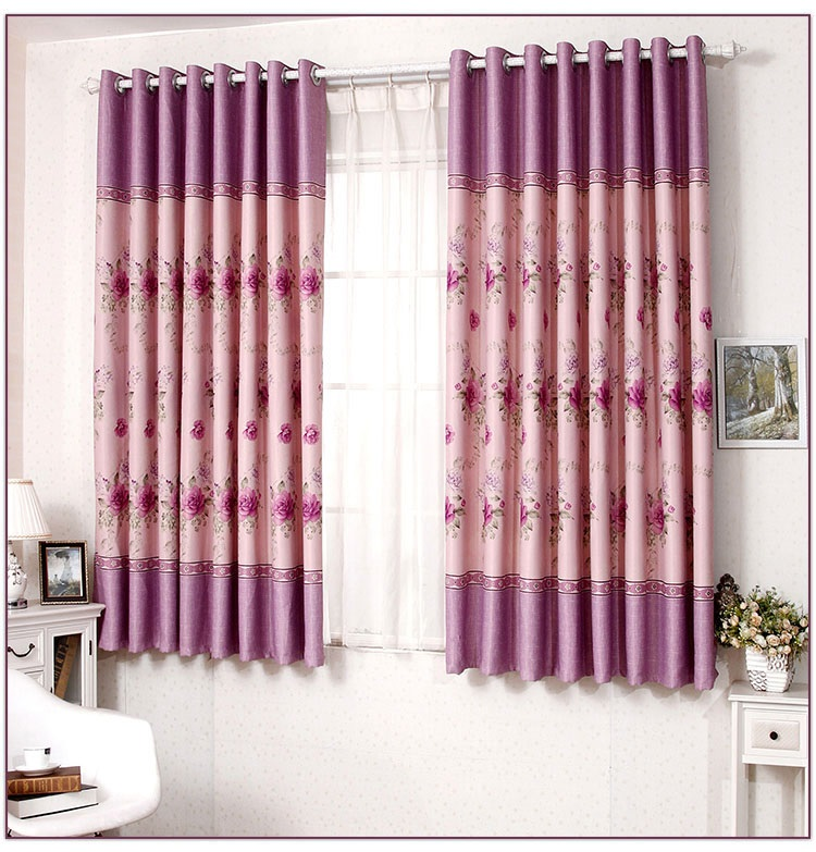 New flower short blackout curtains finished, Beautiful ... on Beautiful Bedroom Curtains  id=61429