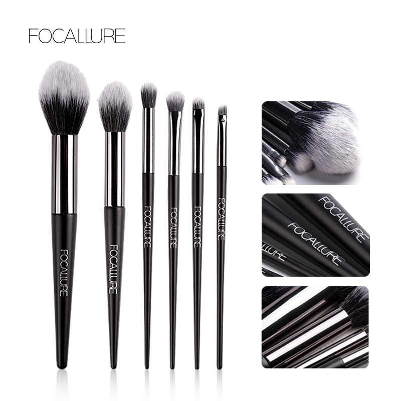 FOCALLURE pinceaux de maquillage professionnel poudre fond de teint applicateur fard à paupières brosse à cheveux synthétique outil de maquillage