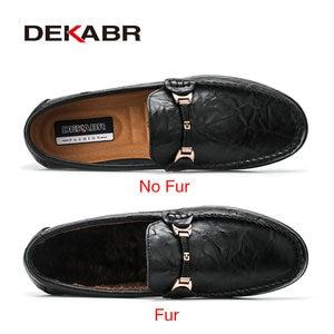 Image 2 - DEKABR Brand Fashion Soft Split Leather Breathable Mens Shoes Slip on Mocassins Men Loafers Anti skid Driving Casual Shoes Men