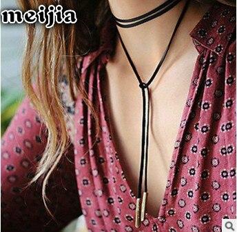 2017 retro Neo Gothic velvet geometric Necklace Necklace Handmade pendant miner woman