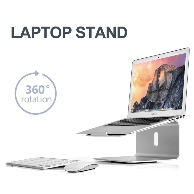 Hyvarwey AP 2 Aluminum Alloy 360 Degree Rotation Adjustable Laptop Stand 15 degree Angle for Home