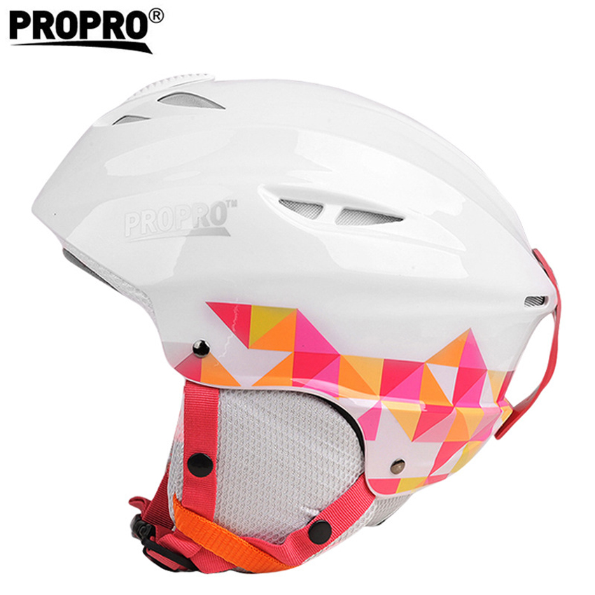Propro Men's Women's Half-covered Skiing Helmets Outdoor Sport Integrally-Molded Snowboard Skateboard Skating Ski Helmet VK036 rockbros pc eps skiing helmets ultralight integrally molded skating ski helmet snowboard thermal skateboard helmets sport safety