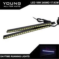 Free Shipping 2PCS SET Daytime Running Lamp Car LED DRL 2 9W 24SMD 5730 15 5CM