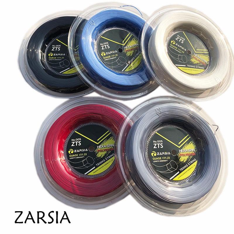 1 carretel 200 M Genuína Marca ZARSIA Hexagon tênis ténis de cordas Cordas Reel, feito em taiwan, hex spin cordas de poliéster