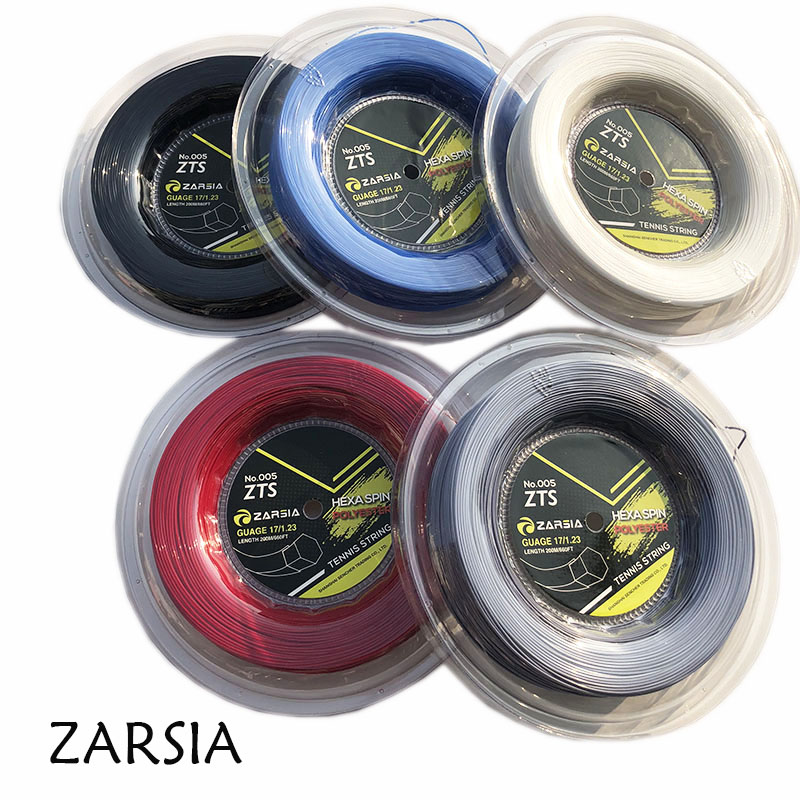 1 Reel  200M Genuine Brand ZARSIA  Hexagon Tennis String Reel Tennis String,made In Taiwan,Hex Spin Polyester Strings